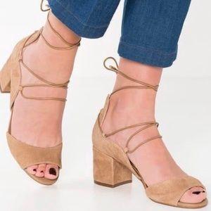 Sam Edelman Serene tan lace up heeled sandal 8
